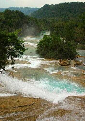 Zdj�cia: Agua Azul, Chapas, Wodospady Agua Azul, MEKSYK