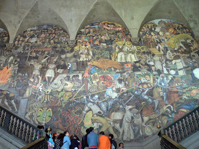 Zdj�cia: Miasto Meksyk, Palacio National., Fragment murali Diego Riviery, MEKSYK