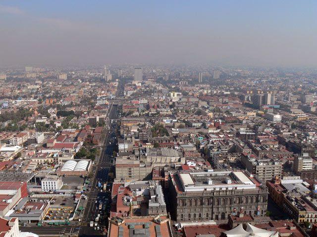 Zdjęcia: Miasto Meksyk., Widok na stolice z Torre Latinoamericana, MEKSYK