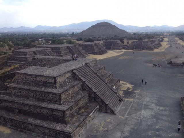 Zdjęcia: Miasto Meksyk, Miasto Meksyk, Piramida Słońca w Teotihuacan, MEKSYK