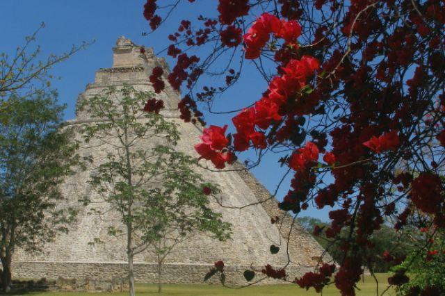 Zdjęcia: Uxmal, piramida w Uxmal, MEKSYK