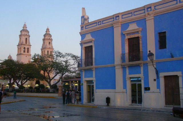 Zdjęcia: Campeche, Zocalo w Campeche, MEKSYK