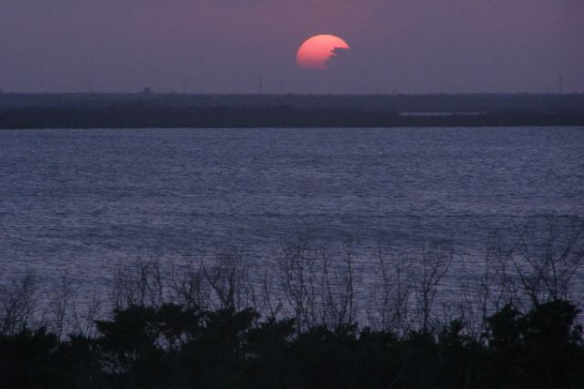 Zdjęcia: Cancun, zachód słońca nad laguną, MEKSYK