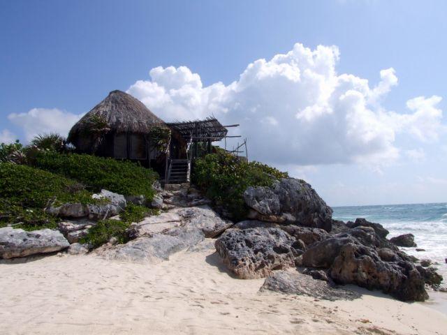 Zdjęcia: Tulum, Jukatan, Tak mozna wypoczywać, MEKSYK