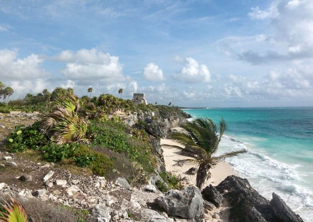 Zdj�cia: Jukatan, twierdza nad morzem, MEKSYK