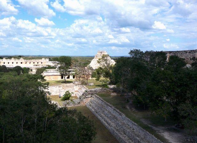 Zdjęcia: Jukatan / Uxmal, panorama Uxmal, MEKSYK