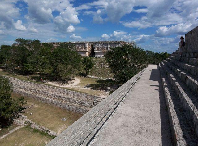 Zdjęcia: Jukatan / Uxmal, schody Wielkiej Piramidy, MEKSYK
