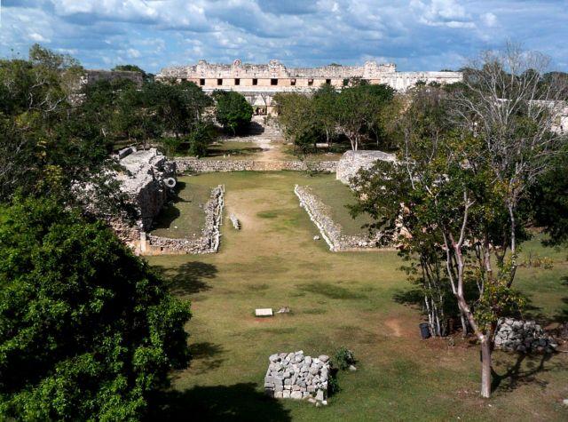 Zdj�cia: Jukatan / Uxmal, boisko do gry w pelote, MEKSYK