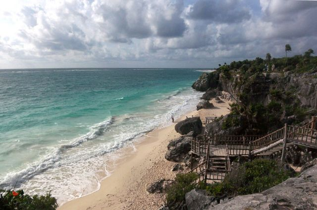 Zdj�cia: Jukatan  , plaza w Tulum, MEKSYK