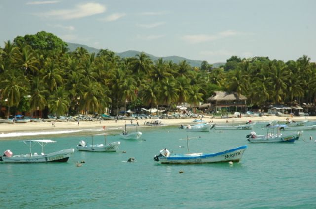 Zdj�cia: Puerto Escondido, Oaxaca, Puerto Escondido - niewielki kurort le��cy nad Pacyfikiem, MEKSYK