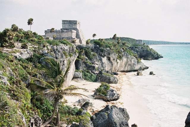Zdj�cia: Tulum, Jukatan, Tulum - nadmorska twierdza Maj�w, MEKSYK