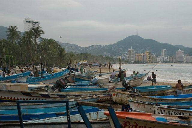 Zdjęcia: nabrzeże w rejonie starego miasta, stan Guererro, Bahia Acapulco, MEKSYK