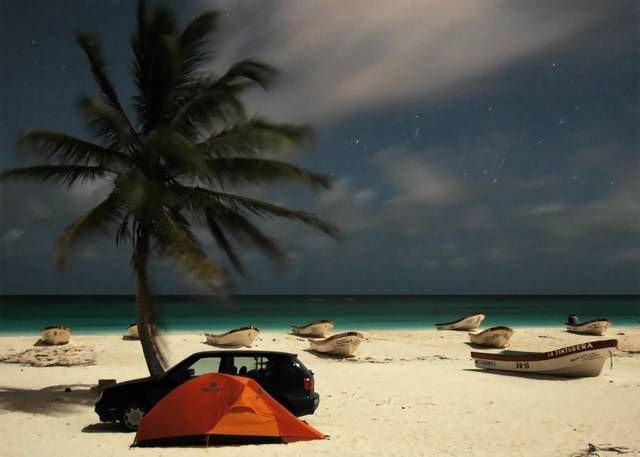 Zdj�cia: Tulum, Noc pod namiotem, MEKSYK