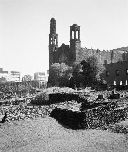 Zdjęcia: Meksyk (stolica), Plaza de las Tres Culturas - fragment, MEKSYK