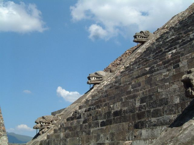 Zdjęcia: Teotihuacan, Teotihuacan - fragment Cytadeli, MEKSYK