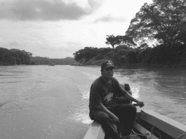 Zdjęcia: Granica państwowa Meksyk - Gwatemala, Na rzece Usumacinta, MEKSYK