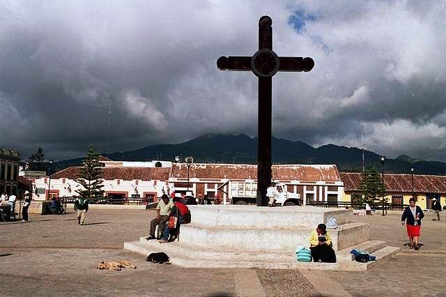 Zdj�cia: San Cristobal de las Casas, Chiapas, Krzy�, MEKSYK
