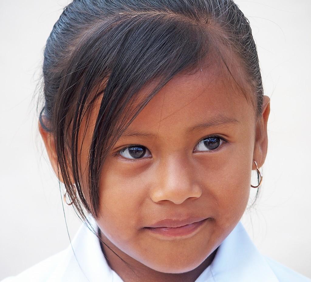 Zdjęcia: Okolice Coba, Jukatan, Portret dziewczynki, MEKSYK