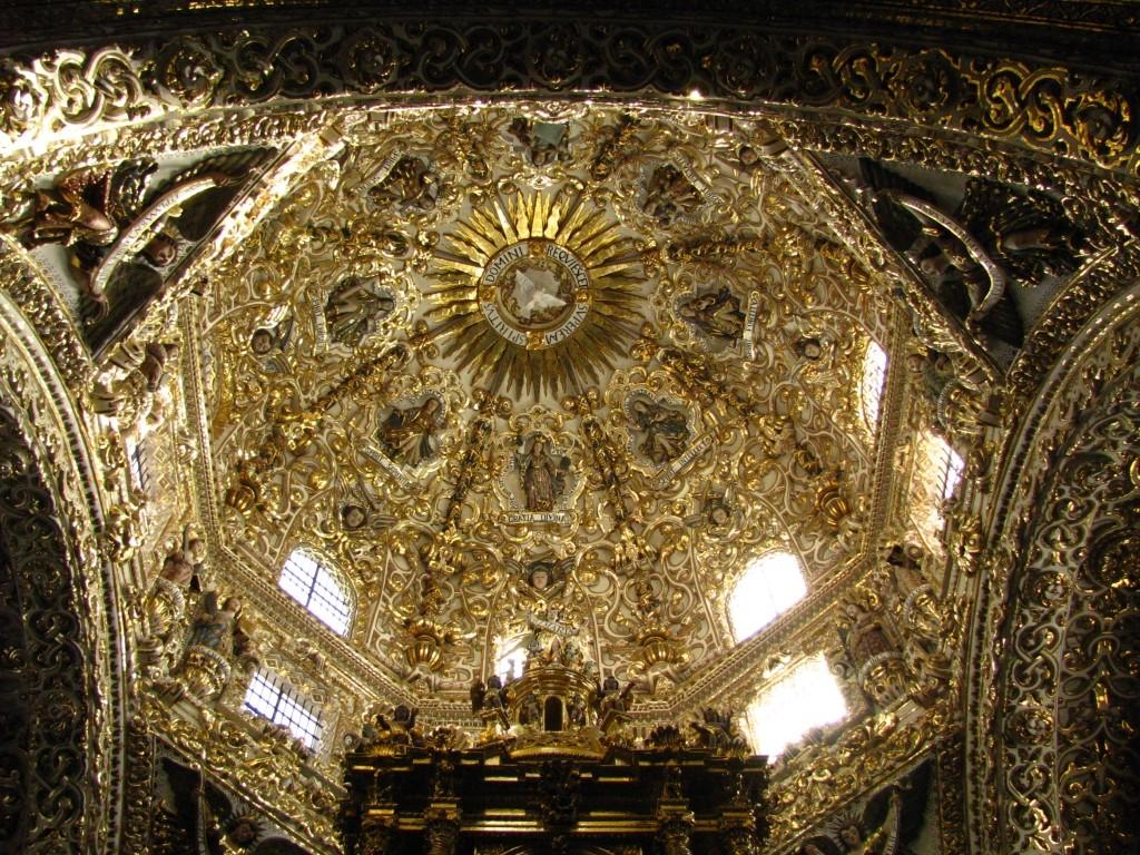 Zdjęcia: Puebla, stan Puebla, kaplica różańcowa w kościele San Domingo, MEKSYK