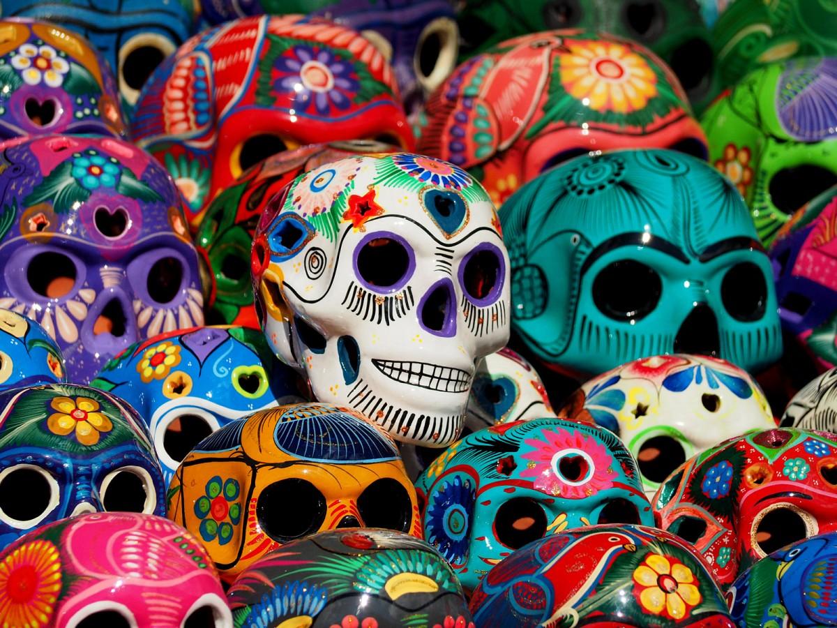 Zdjęcia: Chichén Itzá, Jukatan, Meksykańskie czaszki, MEKSYK