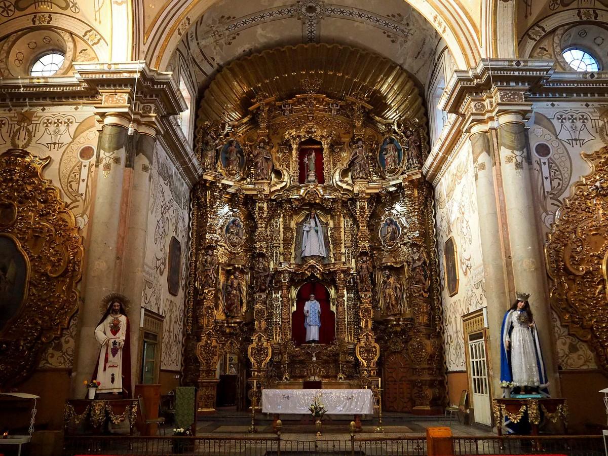 Zdjęcia: San Felipe Neri Temple w Oaxaca, Oaxaca, Ołtarz, MEKSYK