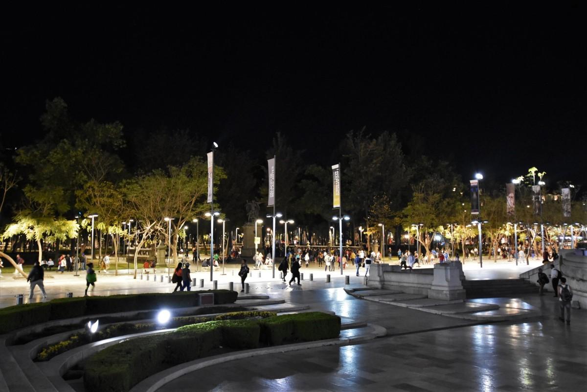 Zdjęcia: Mexico City, Stolica, Mexico City, centrum nocą, MEKSYK