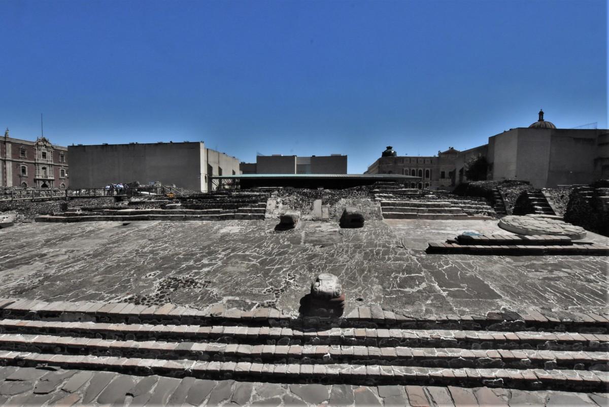 Zdjęcia: Mexico City, Stolica, Mexico City ruiny indiańskiej świątyni, MEKSYK