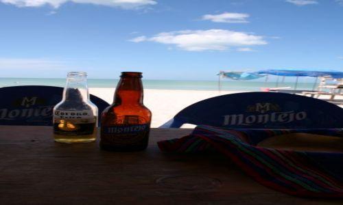 Zdjecie MEKSYK / Jucatan / Celestun / Piwo jedzenie relaks