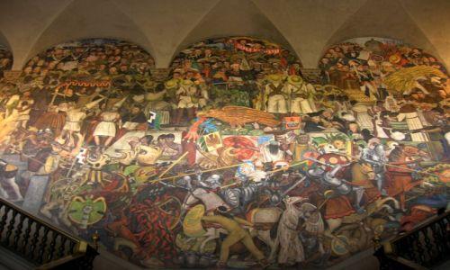 Zdjecie MEKSYK / - / Mexico City,  / Murale Diego Rivery w Pałacu Narodowym