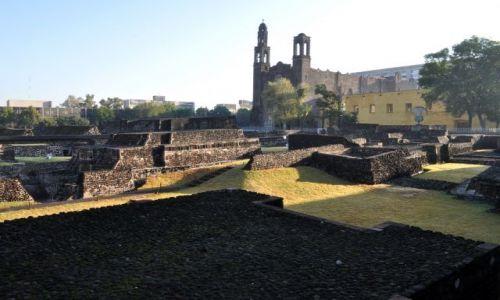 MEKSYK / - / w okresie prekolumbijskim najważniejsze centrum handlowe Mezoameryki. / Ruiny Tlatelolco, Mexico City