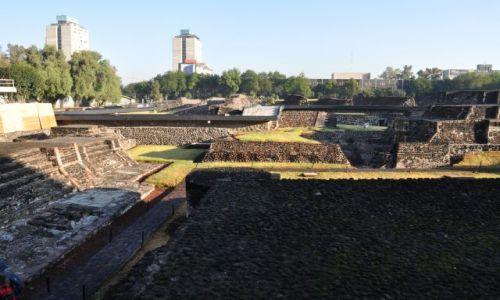 Zdjecie MEKSYK / - / w okresie prekolumbijskim najważniejsze centrum handlowe Mezoameryki. / Ruiny Tlatelolco