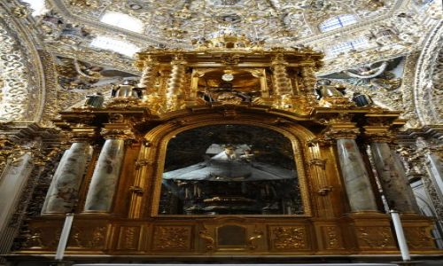 Zdjecie MEKSYK / - / Kościół San Francisco, kaplica ROSARIO / Puebla