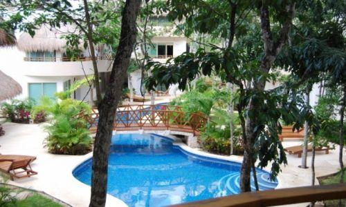 MEKSYK / półwysep Jukatan / Tulum / Widok z hotelu w Tulum