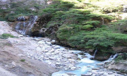 Zdjecie MEKSYK / brak / tolantongo / zimny wodospad gorąca rzeka