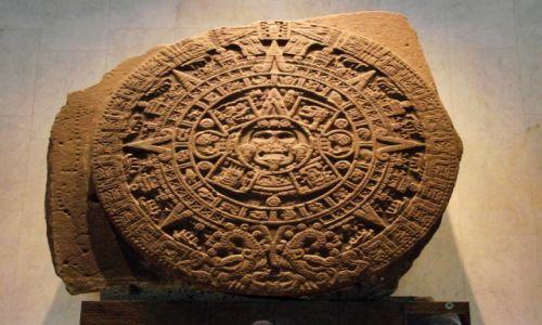 Zdjecie MEKSYK / Mexico City  / Muzeum Antropologi i Historii  / Axayacatl - Kalendarz Azteków