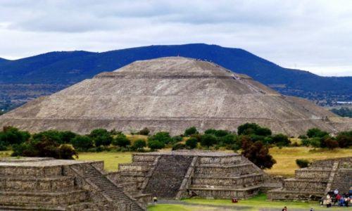 Zdjecie MEKSYK / Teotichuacan / Teotichuacan / spojrzenie na Piramidę Słońca