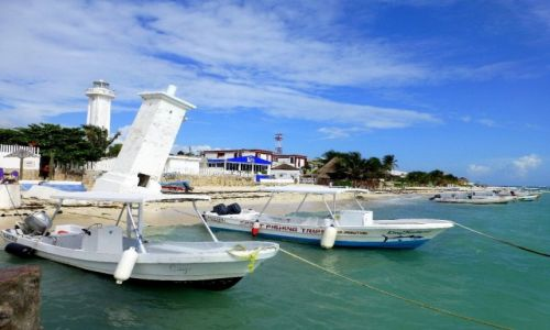Zdjęcie MEKSYK / Quintana Roo / Puerto Morelos / charakterystyczny i znany widok z Puerto Morelos