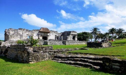 Zdjęcie MEKSYK / Jukatan / Tulum / pozostałości twierdzy Majów w Tulum