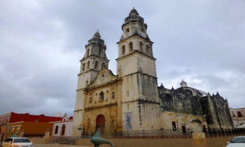 Zdjęcie MEKSYK / Jukatan  / Campeche / Catedral de la Concepcion w Campeche