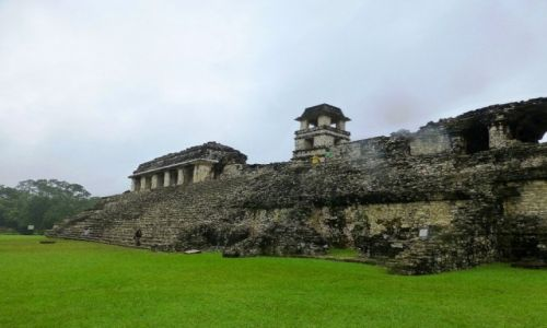 Zdjęcie MEKSYK / Chiapas / Palenque / ruiny Pałacu króla Pakala