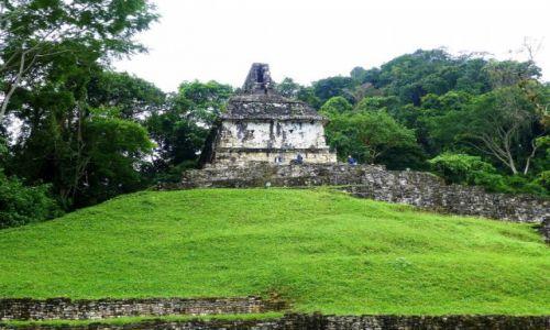 Zdjęcie MEKSYK / Chiapas / Palenque / mała świątynia