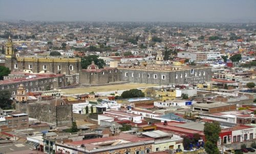 Zdjęcie MEKSYK / stan Puebla / Cholula / panorama miasta