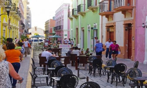 Zdjęcie MEKSYK / Jukatan / Campeche / Deptak