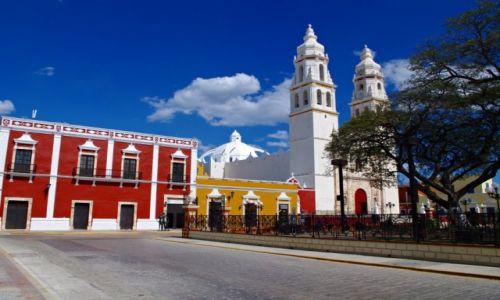 Zdjęcie MEKSYK / Jukatan / Campeche / Katedra w Campeche