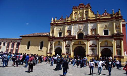 Zdjęcie MEKSYK / Chiapas / San Cristóbal de las Casas / Katedra w San Cristóbal