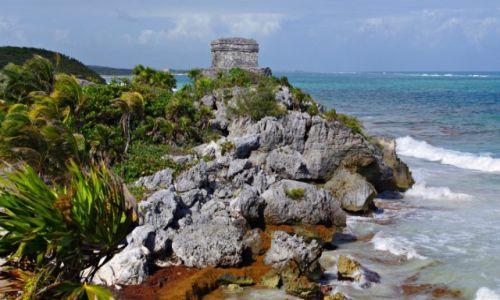 Zdjęcie MEKSYK / Jukatan / Tulum / Twierdza Tulum