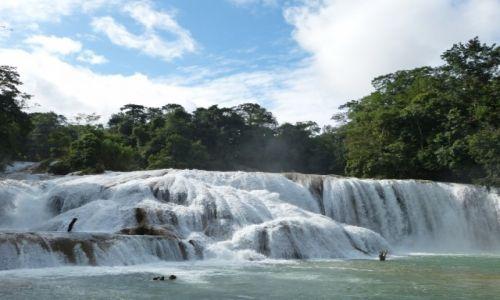 Zdjęcie MEKSYK / Chiapas / Agua Azul / Wodospad Agua Azul