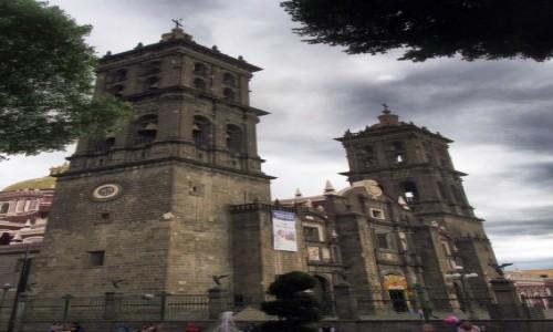 Zdjecie MEKSYK / Puebla / Cholula / Katedra z Cholu