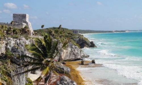 Zdjęcie MEKSYK / Jukatan / Tulum / Twierdza Majów
