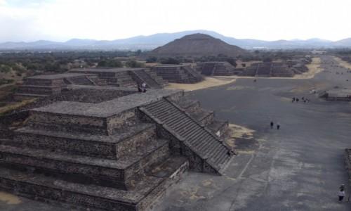 MEKSYK / Miasto Meksyk / Miasto Meksyk / Piramida Słońca w Teotihuacan